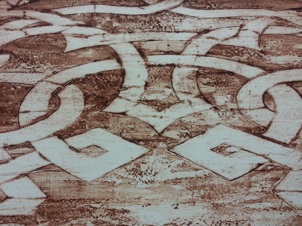 Limtryck av palatsgolv Venedig. Collograph of a Palazzo-floor in Venice.